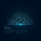 Modern vector illustration with a deformed circle shape of the particles Royalty Free Stock Photography