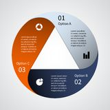 Modern vector info graphic for business project royalty free illustration