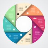 Modern vector info graphic for business project Royalty Free Stock Photo
