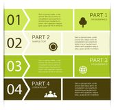 Modern vector info graphic for business project Royalty Free Stock Photography