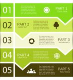 Modern vector info graphic for business project Stock Images