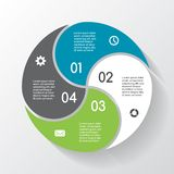 Modern vector info graphic for business project Royalty Free Stock Images