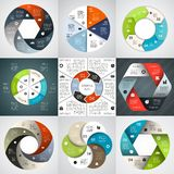 Modern vector info graphic for business project Stock Photography