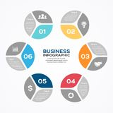 Modern vector info graphic for business project Royalty Free Stock Photos