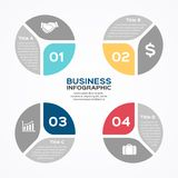 Modern vector info graphic for business project Stock Image