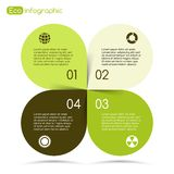 Modern vector info graphic for eco project Royalty Free Stock Photos