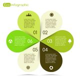 Modern vector info graphic for eco project Stock Image