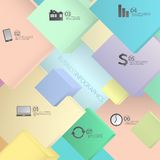 Modern Vector infographic , business concepts or web design template Royalty Free Stock Image