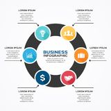 Modern vector infographic for business project Royalty Free Stock Photo