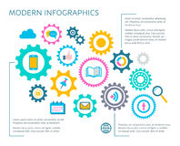 Modern vector infographic design template Royalty Free Stock Photo
