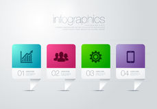 Modern vector infographic diagram with bar. Infographic for powerpoint, web, print Stock Photography