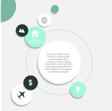 Modern vector  infographic elements. Modern vector abstract infographic elements Royalty Free Stock Photos