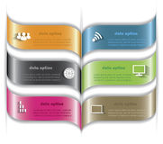 Modern vector infographic malplaatjeontwerp voor uw zaken pres Stock Foto