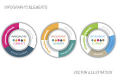 Modern vector infographic template with circle Royalty Free Stock Photos