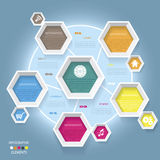 Modern vector infographic template design Stock Photography