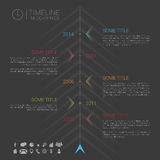 Modern vector infographic timeline template with icons. Illustration Royalty Free Stock Photos
