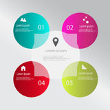 Modern vector infographics. Modern vector abstract speech bubble infographic elements Stock Images