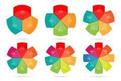 Modern vector infographics design colorful circle template set Stock Photo