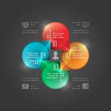 Business Infographics Design Template. Vector Elements. Circle Chart Diagram Illustration. EPS10 Royalty Free Stock Image