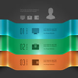 Business Infographics Design Template. Vector Elements. 3D Banners Diagram Illustration. EPS10 Stock Photography