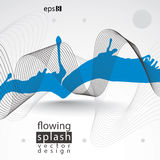 Modern vector inky wallpaper, eps8 flowing lines, ephemeral blob Stock Photography