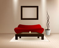 Modern Vector Interior Royalty Free Stock Image