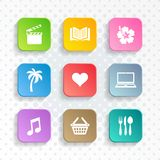 Modern vector leisure web and mobile icons royalty free illustration