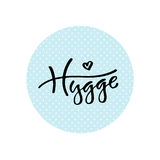 Modern vector lettering. Inspirational hand lettered quote for wall poster. Hygge is a feeling you cannot translate.  Royalty Free Stock Photos