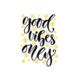 Modern vector lettering. Inspirational hand lettered quote for wall poster. Printable calligraphy phrase. T-shirt print design. Go Royalty Free Stock Photo