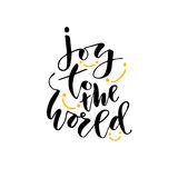 Modern vector lettering. Inspirational hand lettered quote for wall poster. Printable calligraphy phrase. T-shirt print design. Jo Royalty Free Stock Photography