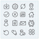 Modern vector linear icons set. For web design and user interface Stock Images