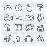 Modern vector linear icons set. For web design and user interface Stock Photos