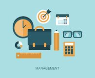 Modern vector management concept illustration Stock Photo