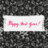 Modern vector New Year card or party design Stock Photography