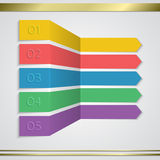 Modern vector paper arrow infographics elements. Stock Image