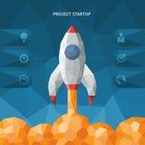 Modern vector polygon style startup concept Stock Photo