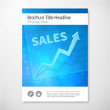 Modern Vector positive sales brochure report design template Stock Image