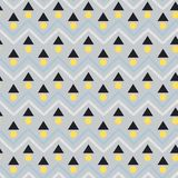 Modern Vector seamless pattern. Abstract background with geometr. Ic and zig zag line. Freshing color texture on light grey background Stock Photos
