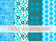 4 Modern, vector seamless patterns. (with swatch Royalty Free Stock Images