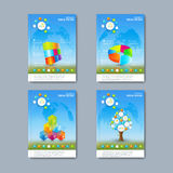 Modern vector set of brochures in the Royalty Free Stock Photography