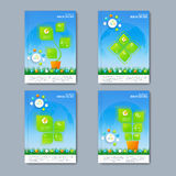 Modern vector set of brochures in the infographics Royalty Free Stock Photos