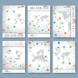 Modern vector set of brochures, magazine, flyer, booklet, cover or report in A4 size. Business design Stock Photo