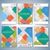 Modern vector set of brochures, magazine, flyer, booklet, cover or report in A4 size. Business design Royalty Free Stock Photography