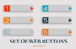 Modern vector set of buttons for web site, can be used as an advertising banner, or pointer. Web design. Stock Image