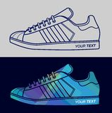 MODERN VECTOR SHOES. Modern vector flat design shoes for your awesome design work Royalty Free Stock Photos