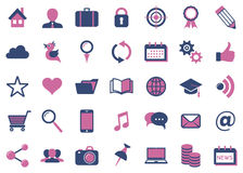 Modern vector social media icons Stock Image