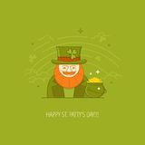 Modern vector St. Patrick's Day design concept Royalty Free Stock Photos
