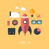 Modern vector start up concept illustration Royalty Free Stock Images