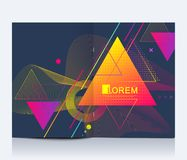 Modern vector template for brochure, Leaflet, flyer, advert, cover, banner, catalog, magazine or annual report. Abstract. Triangle background texture design royalty free illustration