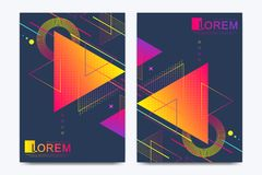 Modern vector template for brochure, Leaflet, flyer, advert, cover, banner, catalog, magazine or annual report. Abstract. Triangle background texture design vector illustration